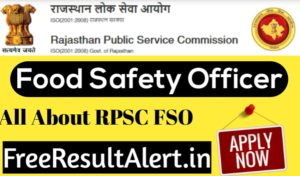 Rpsc Food Safety Officer Jobs 2019 Rpsc Fso Form Last Date